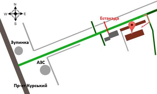 Схема проезда к ЧП